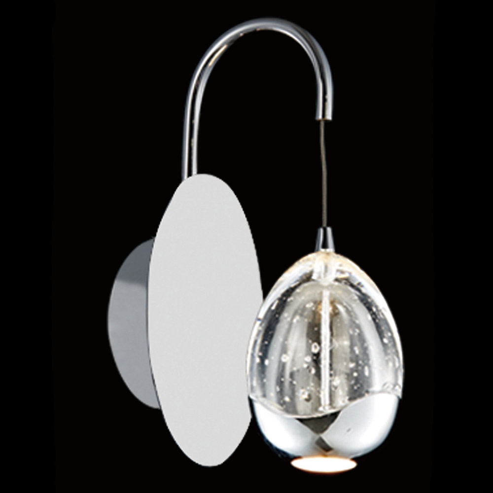 Illuminati Terrene LED Bubble Glass Wall Light